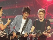 One Direction y Rolling Stones se juntaron en vivo