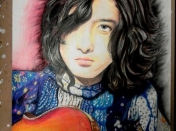 Mi retrato de Jimmy Page... Led Zeppelin ♥