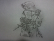 Mi Dibujo de Altair (Assassin's Creed)