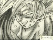 Dragon Ball Z: Mi Dibujo de Goku! :D