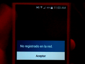 error no registrado en la red -resuelto