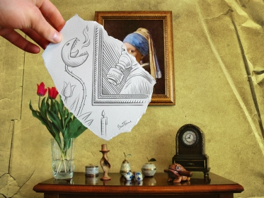 Dibujo vs Fotografía por Ben Heine published in Arte