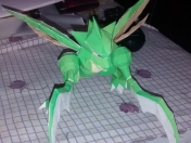 Mi experiencia con papercraft n°2 Scyther