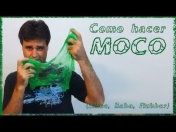 video de como hacer moco artificial slime, baba,flubber,