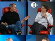 Un diálogo irónico: Steve Jobs vs Bill Gates