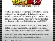 Confirmado! Petición por doblaje original de Dragon Ball Z