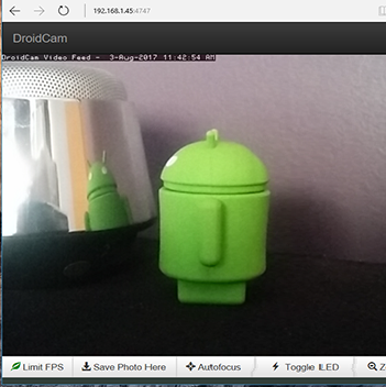 Celular con Android como WebCam