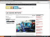 Censura en Revista Veintitrés por accidente de Once