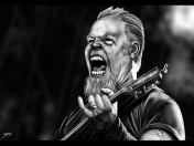 James Hetfield (Metallica) [Dibujo digital + Speedpainting]