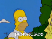 Denunciado .gif by Los Simpsons