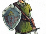 Dibujo Link legend of zelda