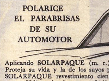 Parabrisas polarizado published in Autos y motos