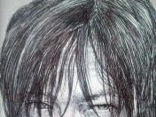 dibujo de daryl (the walking dead) bic