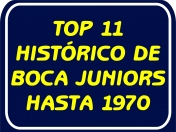 Top 11 histórico de Boca Juniors hasta 1970