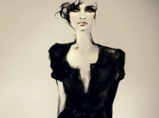 Fashion ILustration Black and White