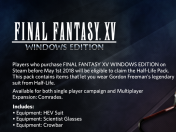 Final Fantasy XV para Pc tendrá demo el 26 de febrero