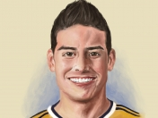 James Rodríguez, dibujo digital