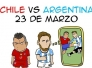 Comic previa Argentina vs Chile